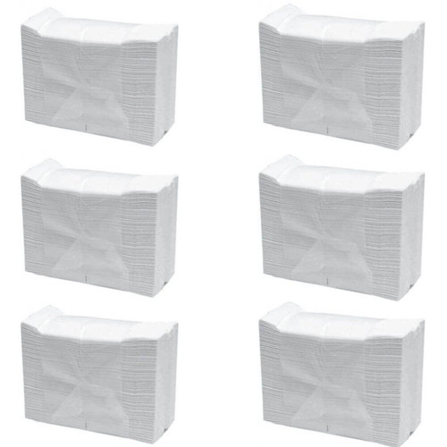 inter folhas toalha branca c/1000 (kit c/06)