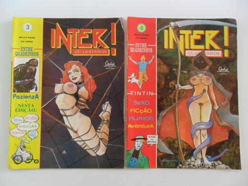inter-quadrinhos! várias! editora ondas! brasileiros! 1984!