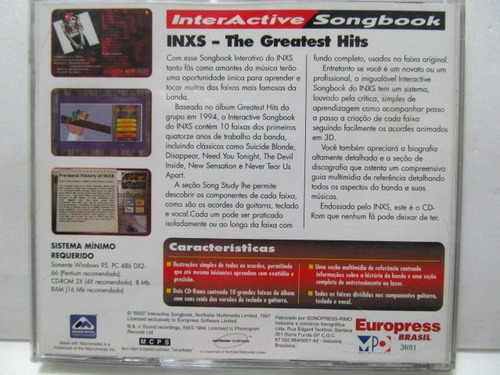interactive songbook inxs the greatest hits