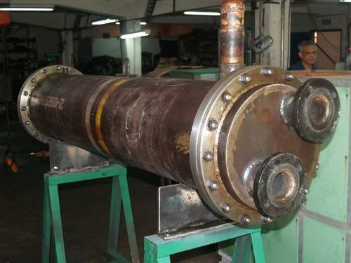 intercambiador de calor cooler, fabricación y reentubado