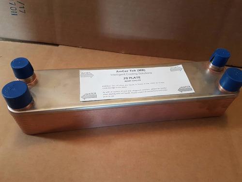 intercambiador placas 0.5 toneladas r22 r407c 314a