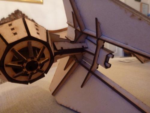 interceptor star wars mdf cru quebra cabeça 3d montado