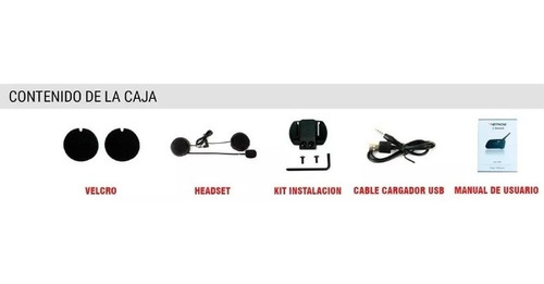 intercomunicador bluetooth casco moto v6 pro 1200 mts - full