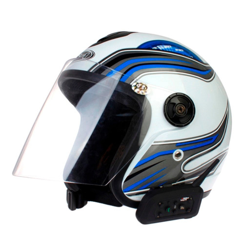 intercomunicador bluetooth moto v6 1200 capacete 1,2 km mp3
