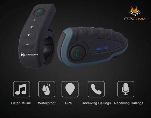 Intercomunicador Bluetooth Premium Moto Fox V8 - 5 Personas! on
