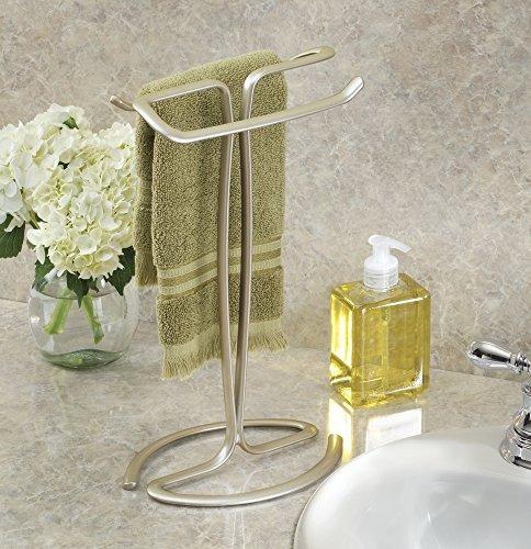 interdesign axis toallero para tocadores de baño - pearl cha