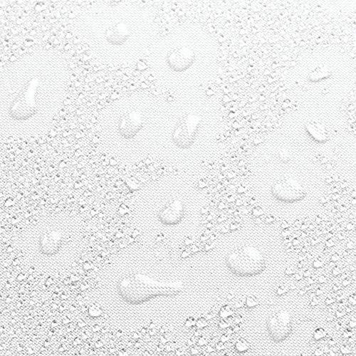 interdesign, cortina de baño de tela, 183x183 cm, blanco