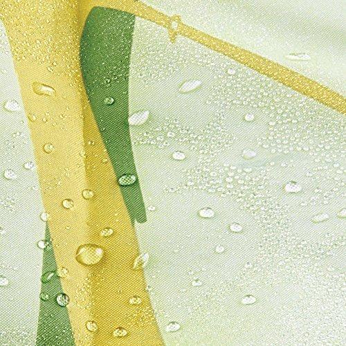 interdesign cortina de tela para ducha, con diseño de cardo