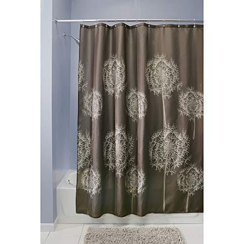 interdesign dandelion cortina de ducha   183 cm x 183 cm  