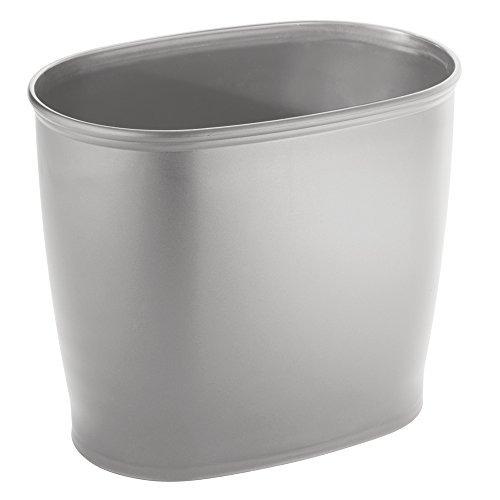 interdesign kent - cubo de basura oval para baño, cocina o