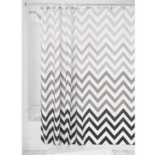 interdesign ombre chevron cortina de baño textil | cortina