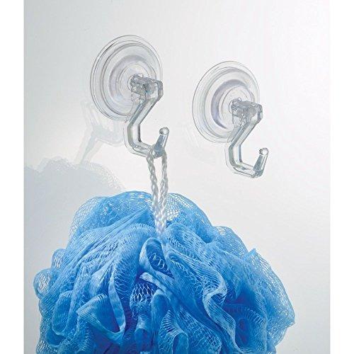 interdesign power lock suction hook, clear, 2-pack