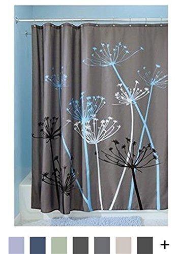 interdesign thistle cortina de baño - cortinas para baño gr
