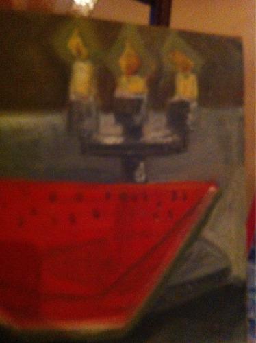 interesante pintura antigua firmada rilailson
