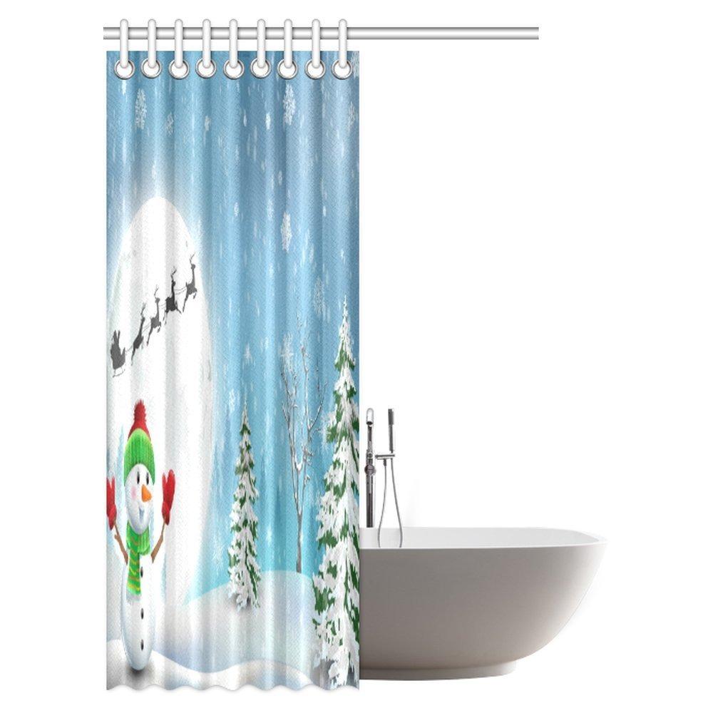 Interestprint Decoraciones De Cortinas De Bano De Navidad - Cortinas-y-decoraciones