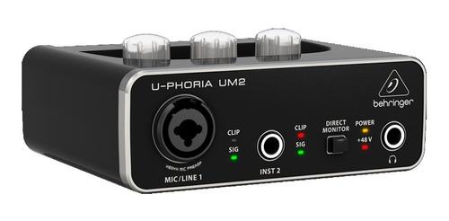 interface audio behringer u-phoria um2 usb phantom power