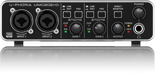 interface áudio usb behringer