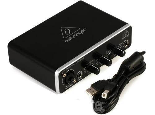 interface behringer umc22 usb 2x2 interfaz placa de sonido