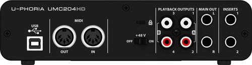 interface de áudio behringer u-phoria umc204hd mercado full