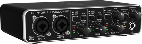 interface de audio behringer umc204hd garantia 2 anos