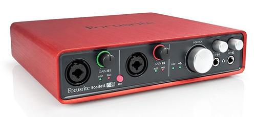 interface de audio e gravação scarlett 6i6 focusrite