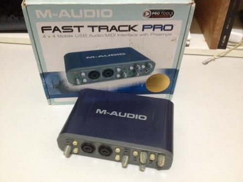 interface de audio - fast track pro