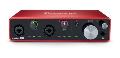interface de áudio focusrite scarlett 4i4 3ª geração