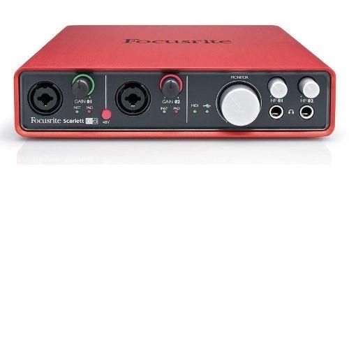 interface de áudio focusrite usb scarlett 6i6