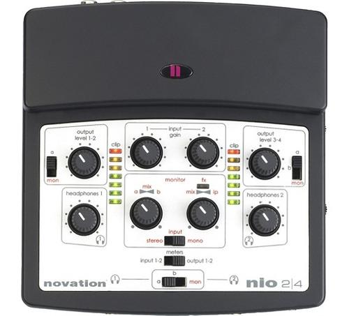 interface de audio gravação novation nio 2.4 usb direct fx