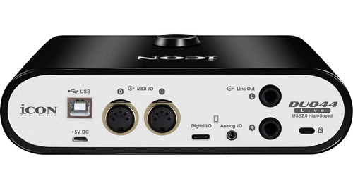 interface de audio icon duo44live 2 canais usb/midi