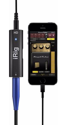 interface de áudio ik multimedia irig hd