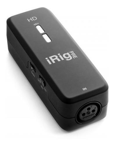 interface de áudio ik multimedia irig pre hd para microfone