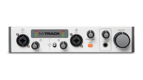 interface de áudio m-áudio usb áudio mtrackii