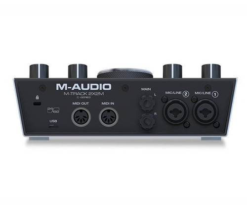 interface de áudio m-áudio usb midi m-track 2x2m