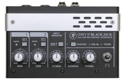 interface de audio mackie onyx black jack usb 2x2 24bit