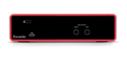 interface de áudio scarlett 2i2 geração 3 - focusrite - com nota fiscal e garantia de 2 anos proshows!