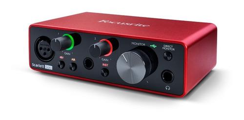 interface de audio scarlett solo geração 3 - focusrite +nf