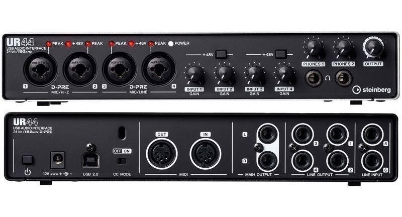 Interface De Áudio Steinberg Ur44 Yamaha Usb 2.0 - R$ 1.809,00 em ...