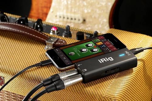 interface de guitarra ik multimedia irig hd 2 para ios/usb