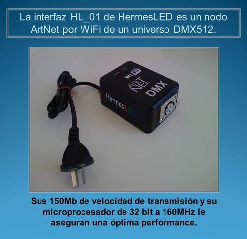 interface  dmx 512 wifi controlador artnet de 1 universo
