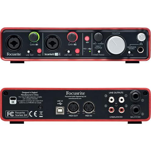 interface focusrite scarlett 2i4 24 bits y 96 khz