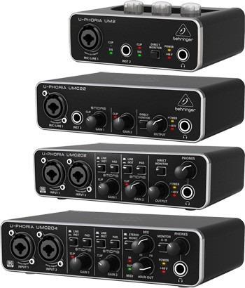 interface grabación usb behringer um2 microfono oferta