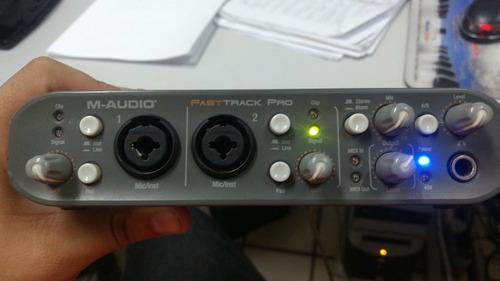 interface m-audio fast track pro conservada