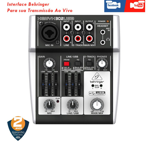 interface mesa behringer xenyx 302 usb  live face youtube