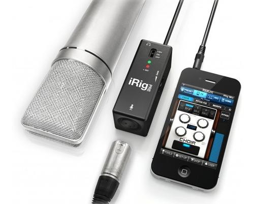 interface microfone irig pre ik multimedia - garantia 1 ano