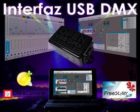 Interface Open Usb Dmx 1 Universo 512 Canales Luces Pc