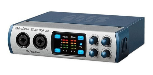 interface placa audio midi usb presonus studio 26