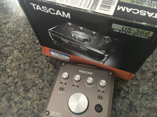 interface placa de áudio tascam us-366