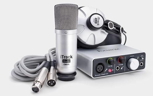 interface profissional de audio itrack studio focusrite