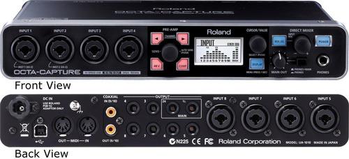 interface roland octa capture ua-1010